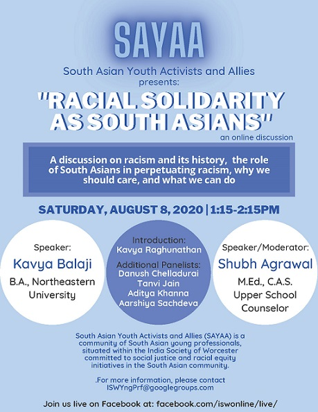 South Asian Youth Activists And Allies Presents
