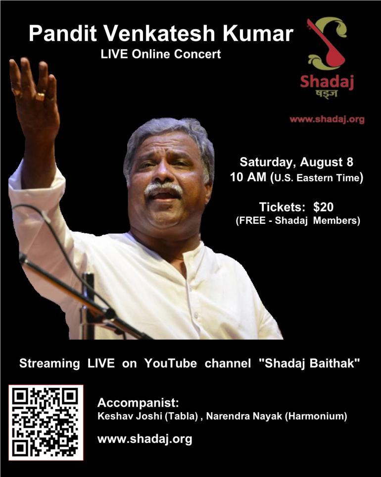 Pandit Venkatesh Kumar Live Online Concert