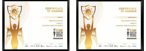 American India Foundation Wins 2020 CSR Health Impact Award