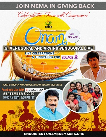 Join NEMA In Giving Back: Onam With Solace