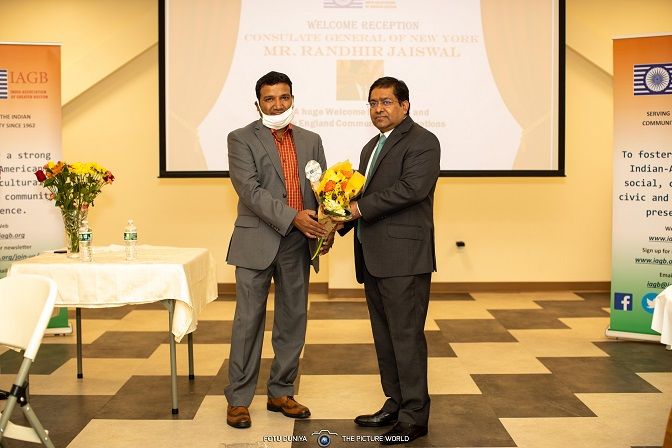 New England Community Welcomes Consul General Of India, New York Shri. Randhir Jaiswal