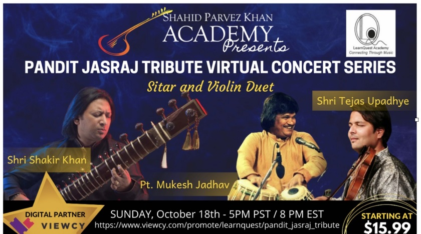 Pt Jasraj Tribute Virtual Concert Series By SPK Academy