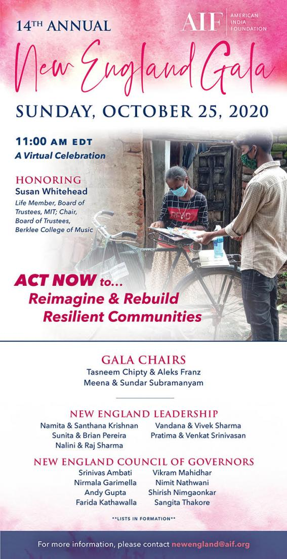 'Rebuilding Lives' - AIF New England Hosts Virtual Gala On October 25th