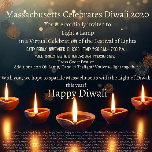 Massachusetts Celebrates Diwali 2020
