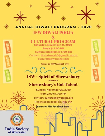 ISW Diwali Event – Virtual