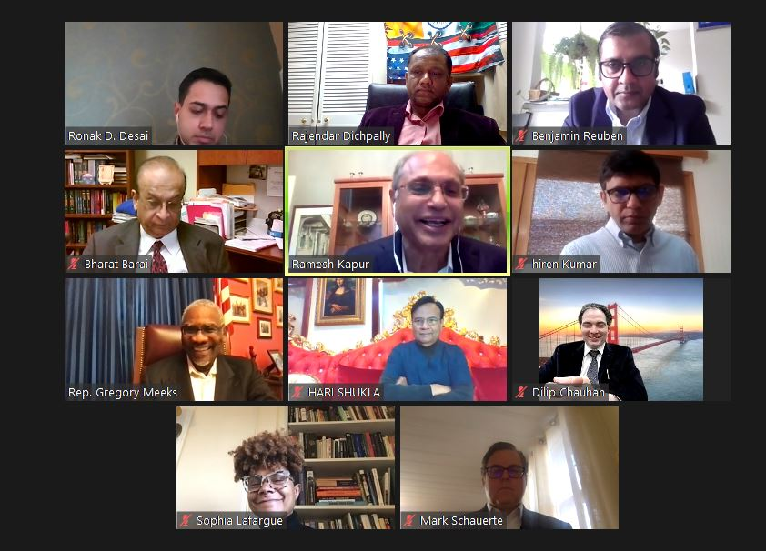 Ramesh Kapur And Indian Americans Host A Virtual Meeting With Congressman Gregory Meeks