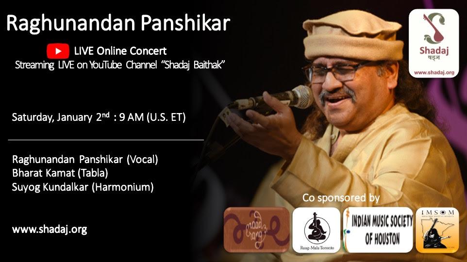 Shadaj: Hindustani Classical Vocal Concert By Raghunandan Panshikar