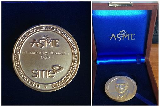 2020 Merchant Medal Awarded To Dr. Krishnamoorthy Subramanian