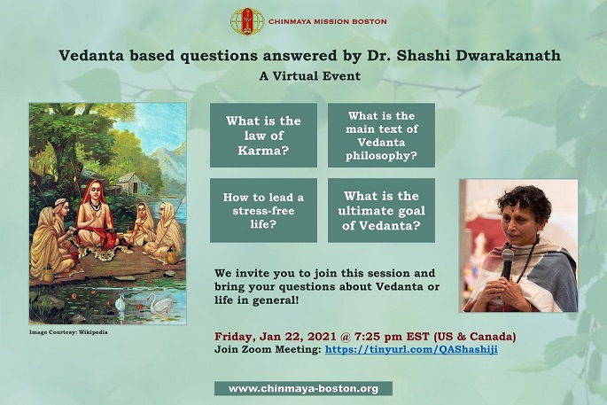 CMB Hosts Online Q And A On The Topic Of Vedanta