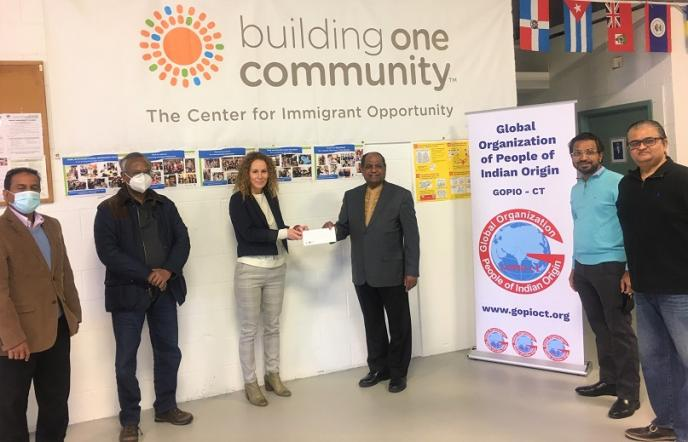 GOPIO-CT Raises Funds For Building One Community Providing Services To New Immigrants