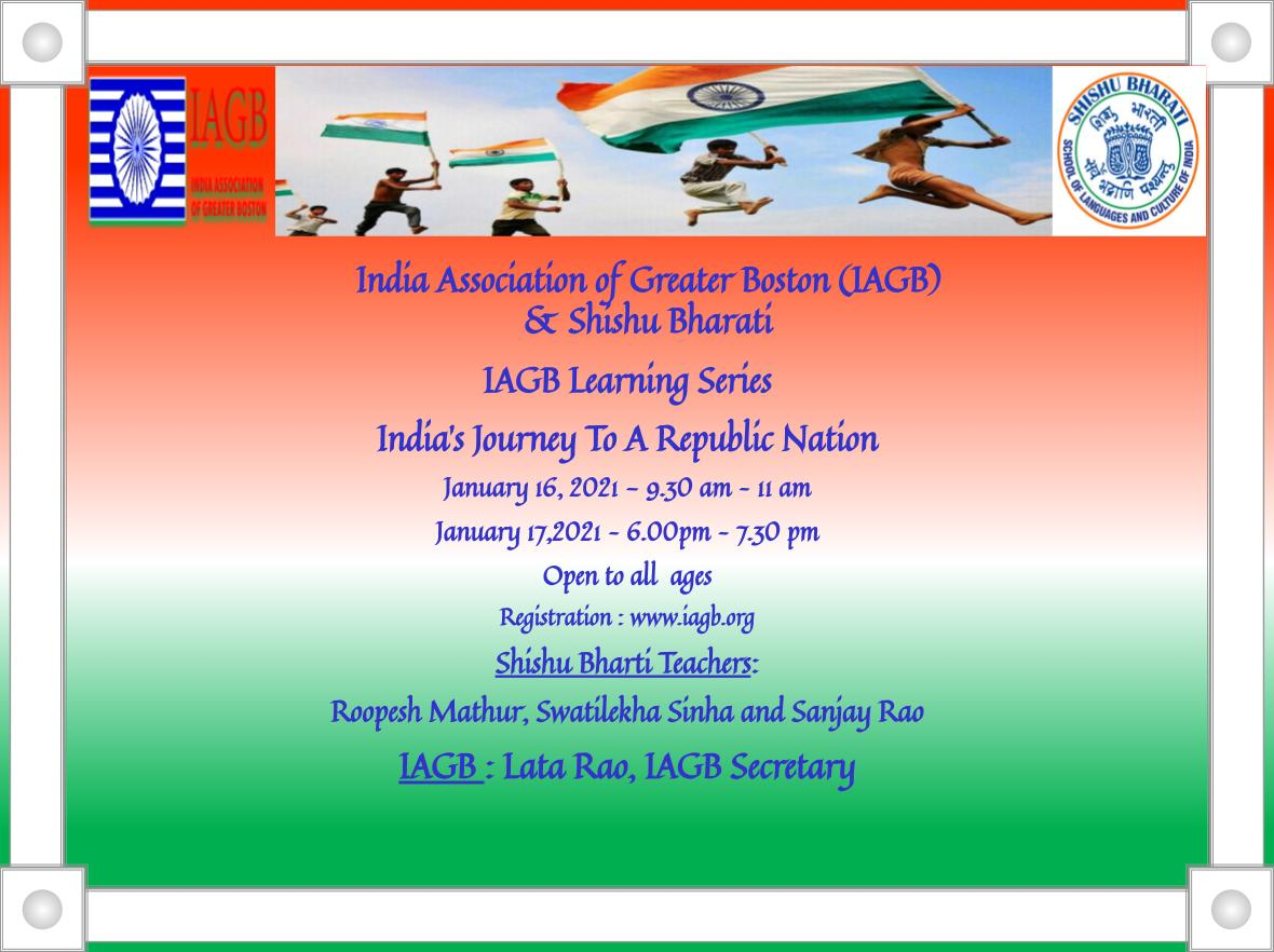 IAGB Learning Series: India's Journey To A Republic Nation