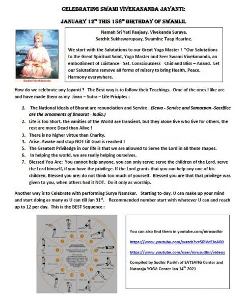 Celebrating Vivekananda Jayanthi