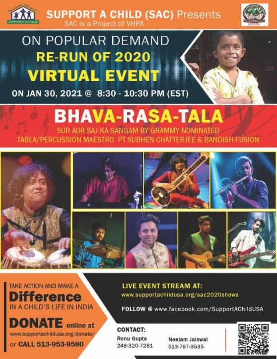 Support-A-Child Presents A Musical Evening Bhava Rasa Taal