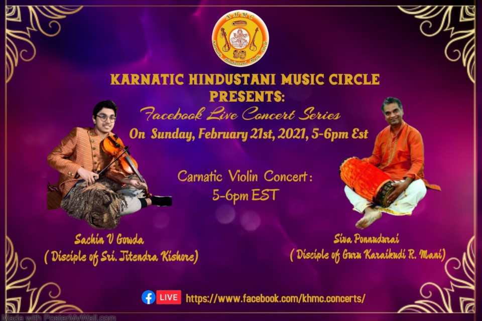 KHMC Concert - Sachin Gowda And Siva Ponnudurai