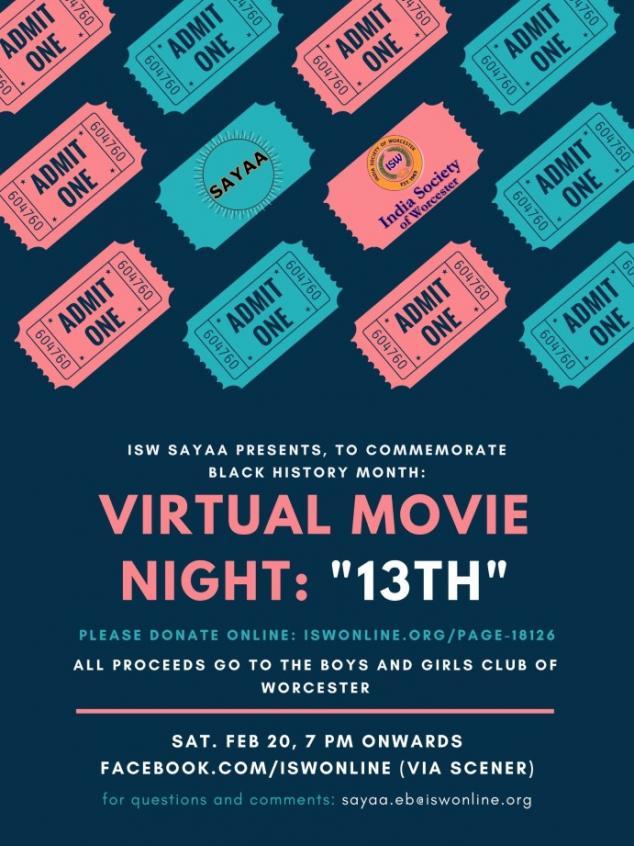 Virtual Movie Night '13th' Hosted By SAAYA