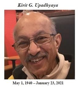 Obituary: Kirit Upadhyaya