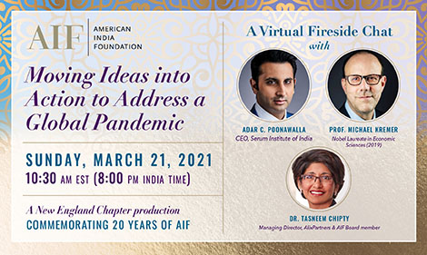 Adar Poonawalla On A Fireside Chat With Prof Michael Kremer At AIF's March 21st Event