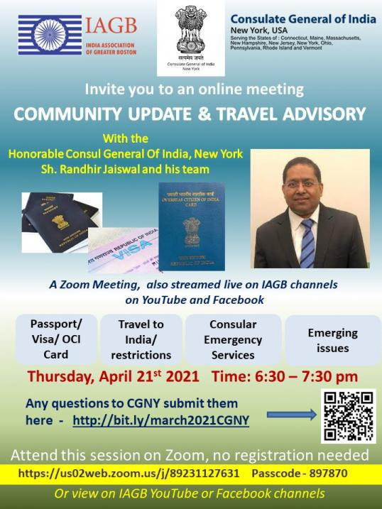IAGB And ICNY Present Community Advisory & Travel Update
