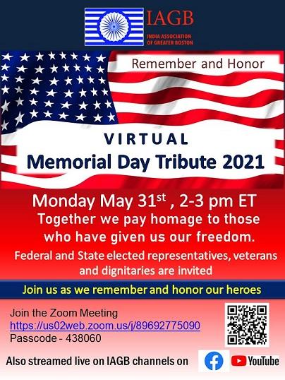 IAGB Virtual Memorial Day Tribute 2021