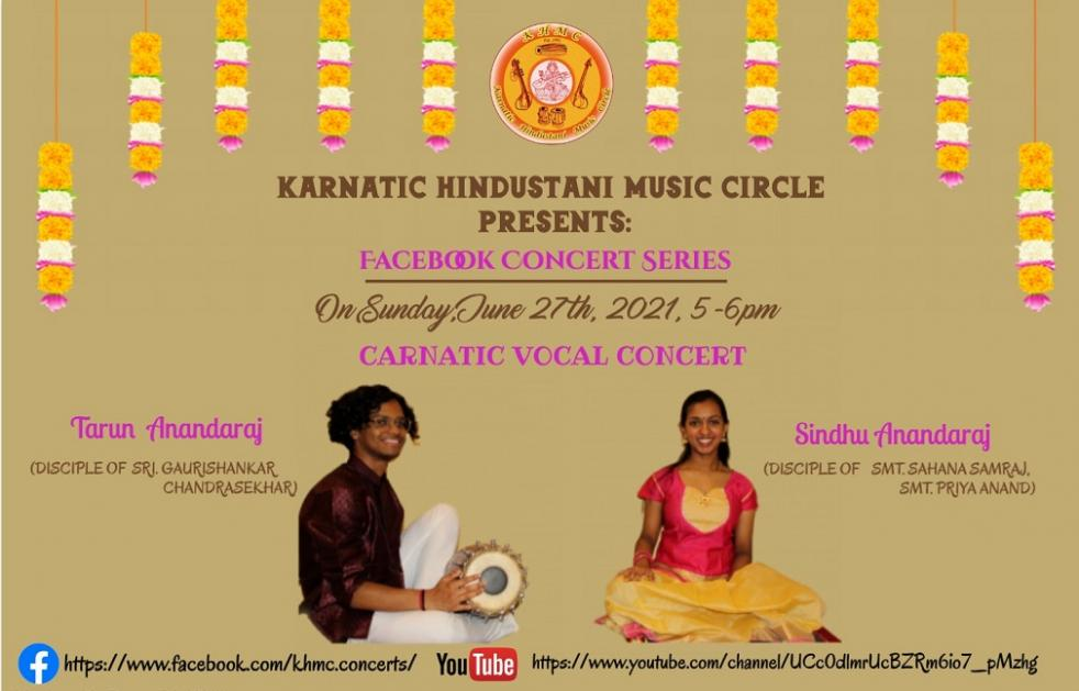 KHMC Concert - Tarun Anandaraj And Sindhu Anandaraj