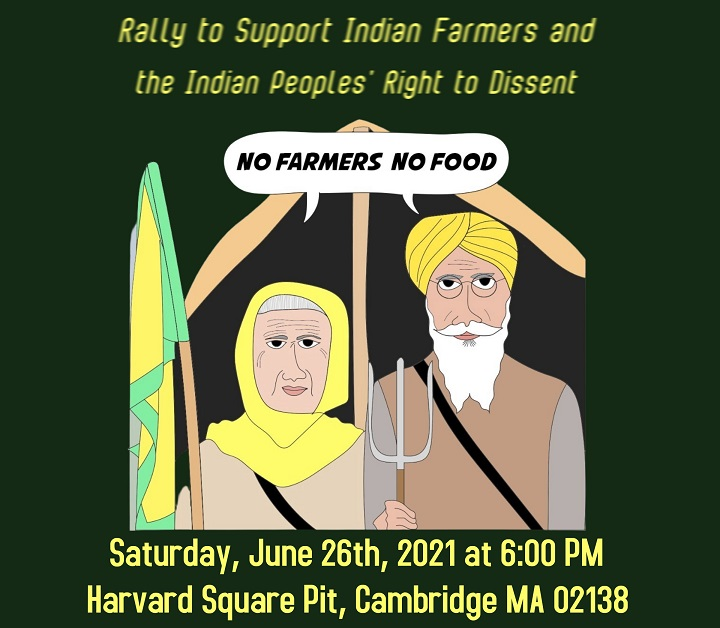 Rally To Support Indian Farmers And The Indian Peoples' Right To Dissent
