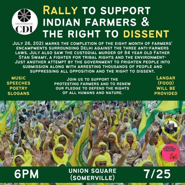 Rally To Support Indian Farmers