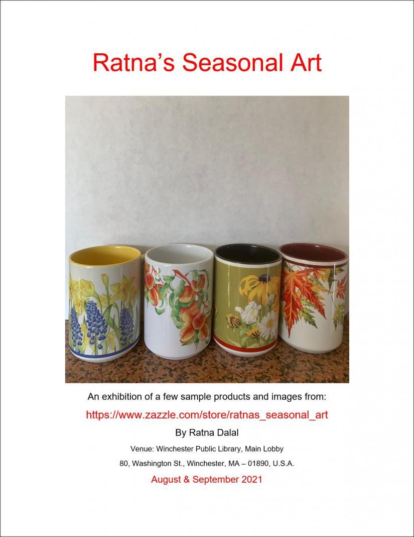 Ratna's Seasonal Art Exhibition At Winchester Public Library