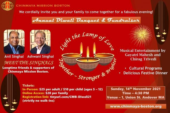 Chinmaya Mission Boston To Host A Colorful Diwali Banquet