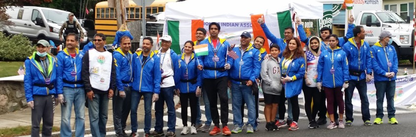 World Hindu Council (VHPA) With Tata Consulting Services In Boston Marathon
