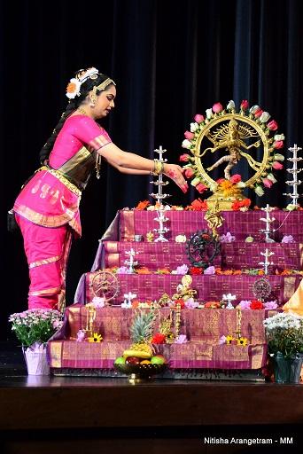 A soul filling debut by nithisha prasad for Arangetram decoration ideas