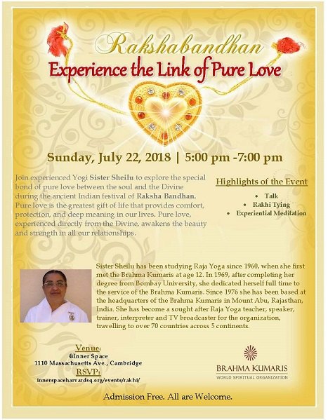 Brahma Kumaris To Host 'Rakshabandhan – Experience The Link Of Pure