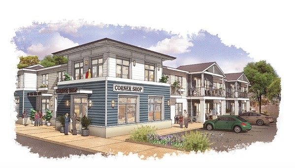 COMING SOON? The proposed mixed-use senior housing project at 2655 Shell Beach Road would include 21 one-bedroom apartments and a 550-square-foot retail space. - SCREENSHOT FROM PISMO BEACH CITY STAFF REPORT